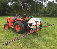 Boom sprayer hire from Dial a Digger in Hampshire