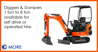 Digger hire and plant machinery hire from Dial a Digger